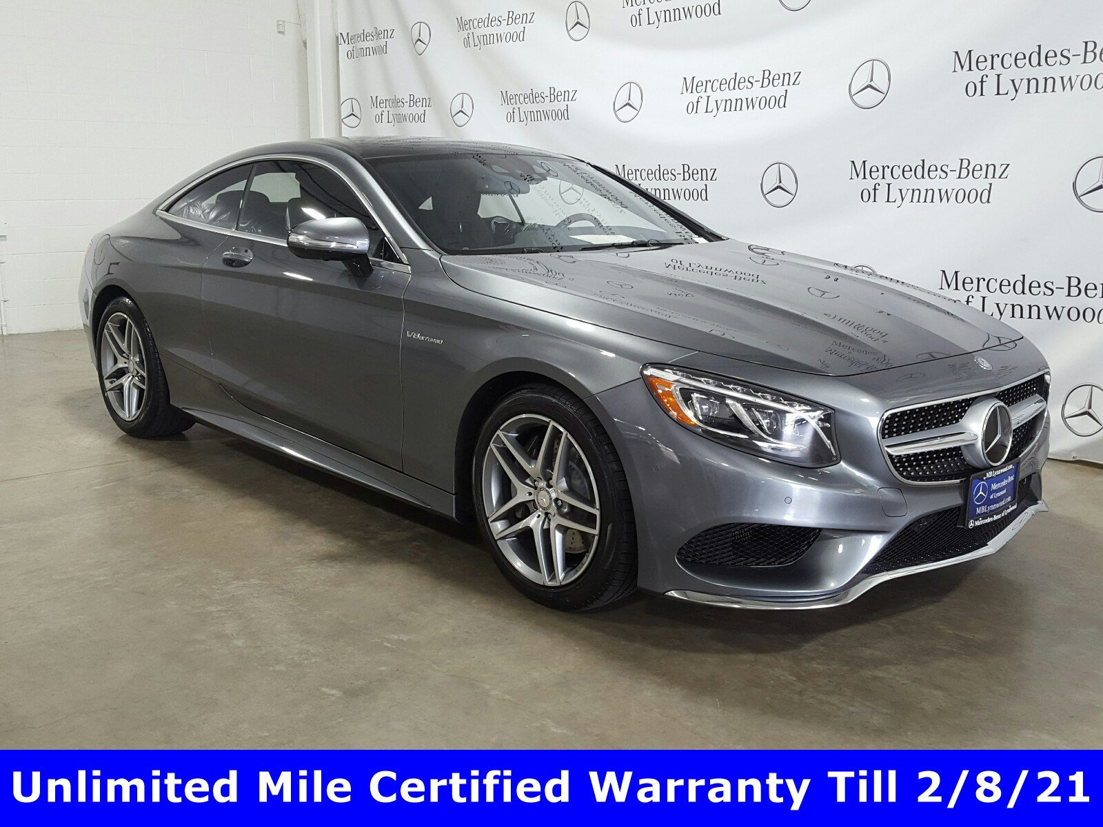 Certified Pre-Owned 2016 Mercedes-Benz S-Class S 550 4MATIC® Coupe